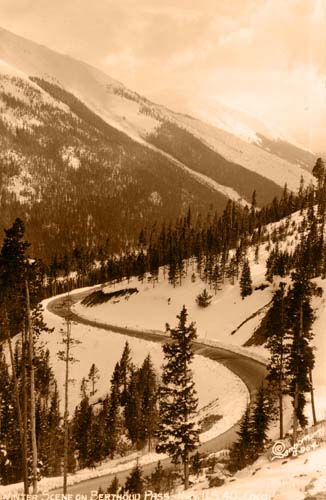 Winter Scene on Berthoud Pass - Hwy. U.S. 40
