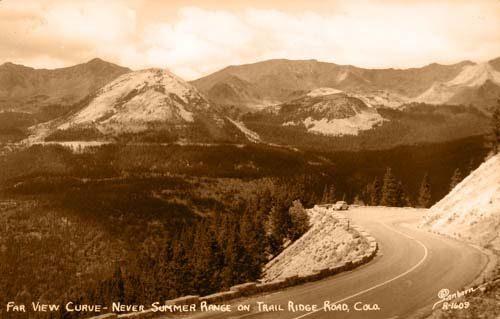 Far View Curve - Never Summer Range on Trail Ridge Road