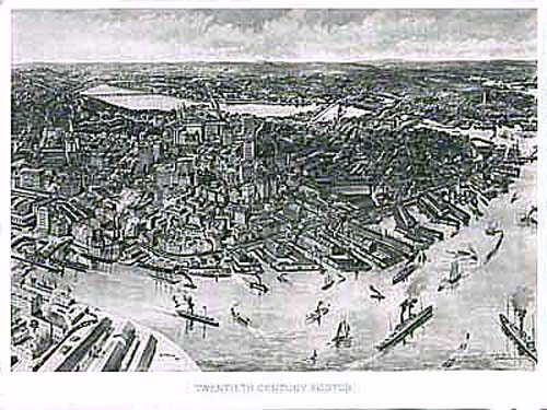 Bird's-eye View of Boston