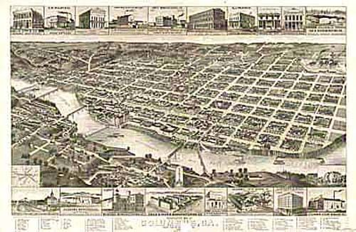 Bird's-eye View of Columbus