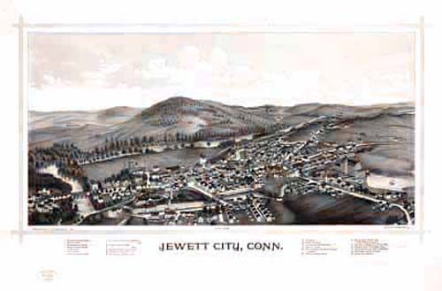 Bird's-eye View of Jewett City