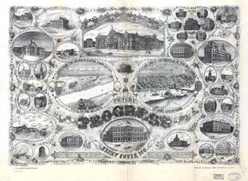Bird's-eye View of St. Louis