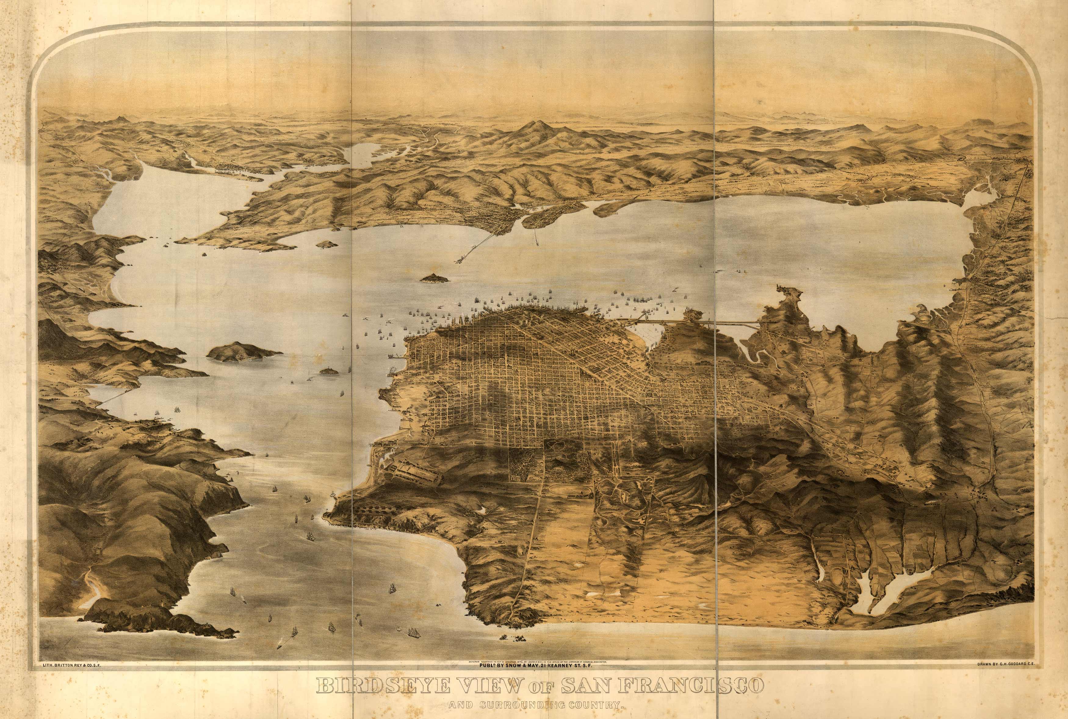 Bird's-eye View of San Francisco