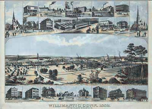 Bird's-eye View of Willimantic