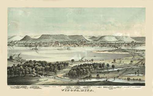 Bird's-eye View of Winona