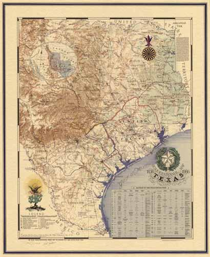 Map Of Texas 1836.Sesquicentennial Map Of Texas 1836 1986 Texas Revolution 1835 1836