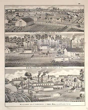 Farm of M.L. Hughes.  H.H. Williams Mill