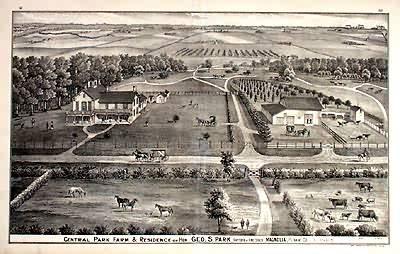 Central Park Farm and Residence of Hon. Geo. S. Park