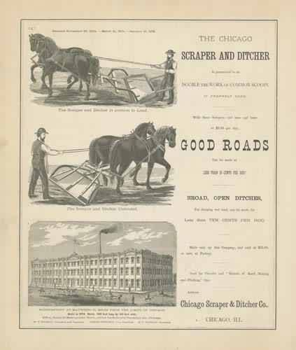 Advertising for the Chicago Scraper and Ditcher