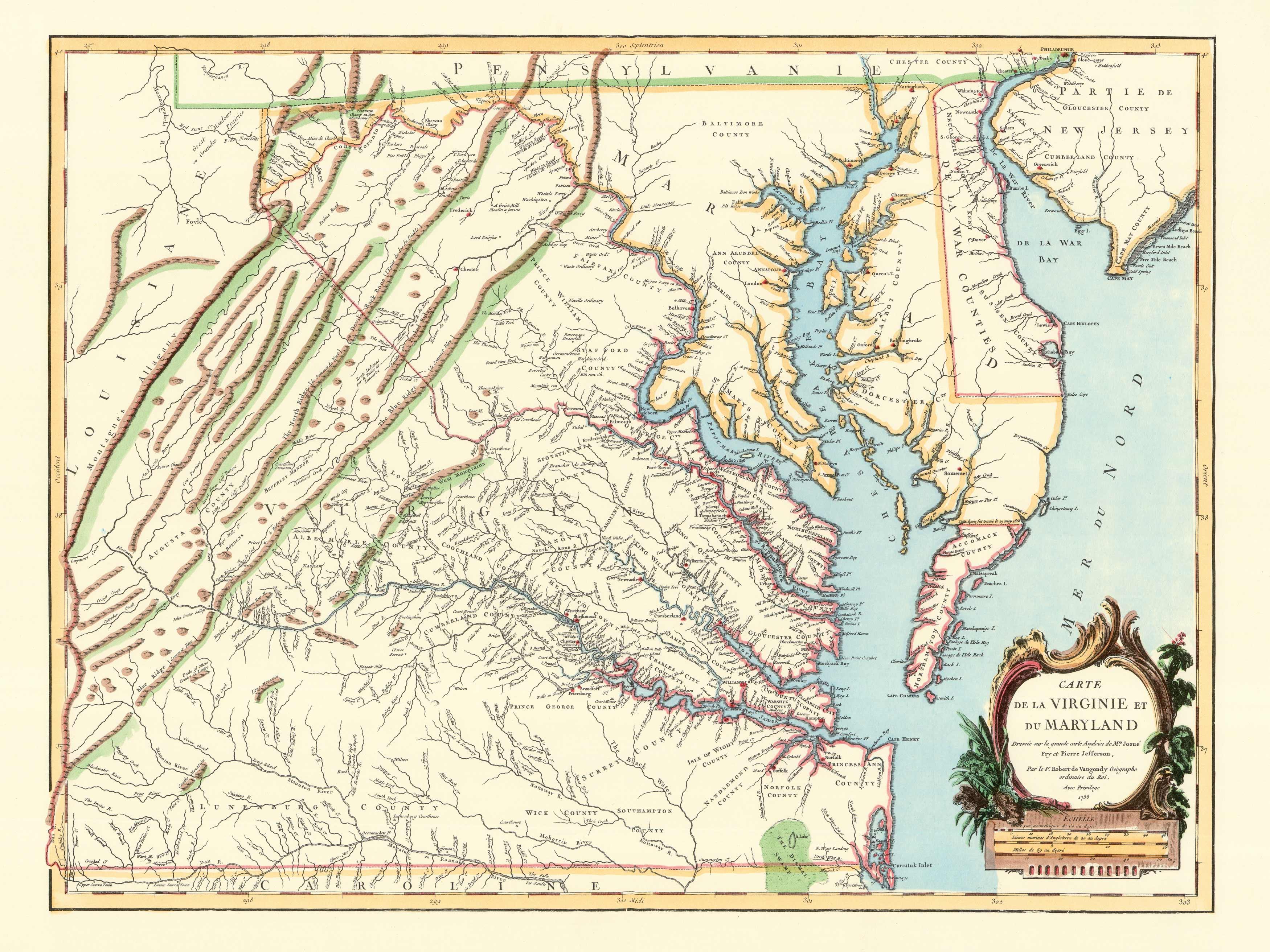 Virginia & Maryland: 1755