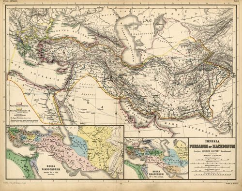 Imperia Persarum et Macedonum (Part of the Roman Empire from Greece to the eastern edge of India)