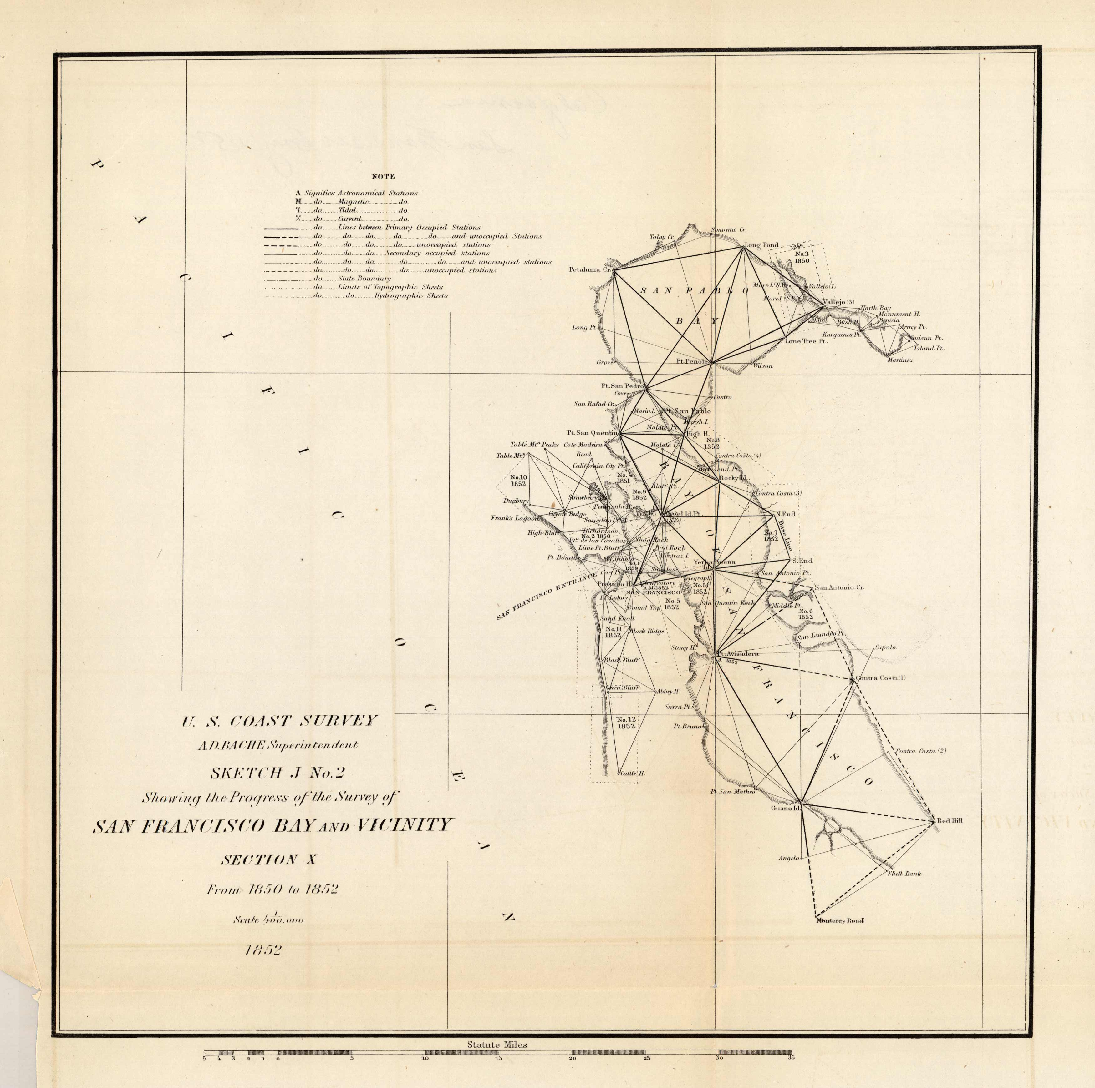 Antique Coastal Survey-San Francisco Bay and Vicinity