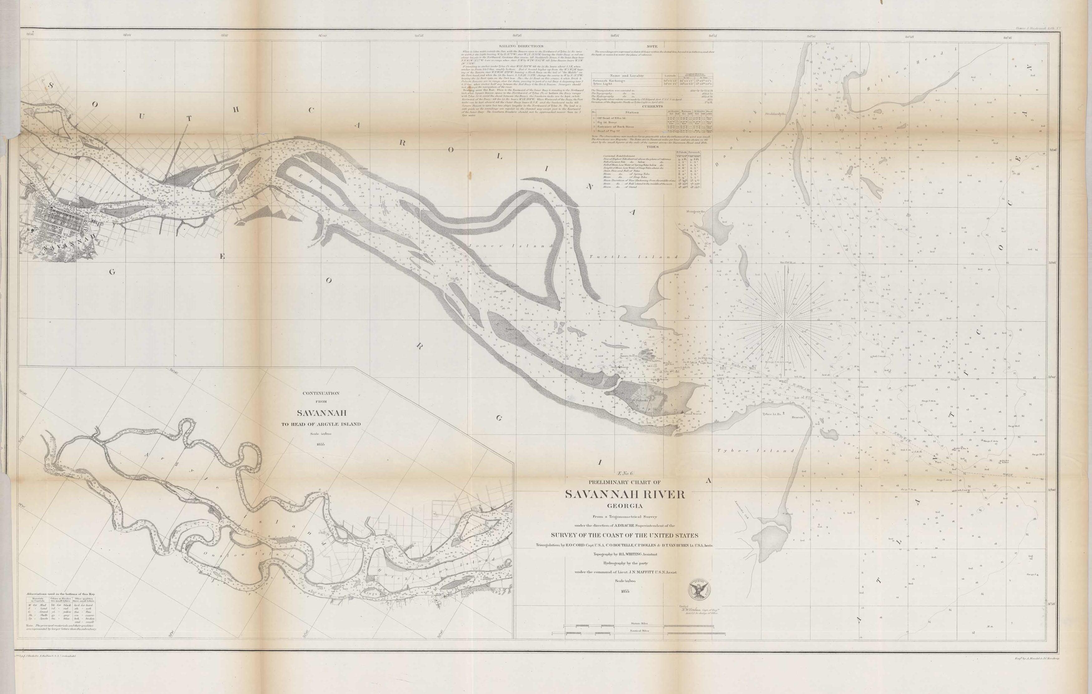 Preliminary Chart of Savannah River Georgia