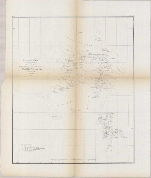 Coast  Survey Sketch J No. 3 Showing the Progress of the Survey of Washington Sound and Vicinity