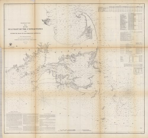 Sketch Showing Triangulation in Eastern Massachusetts 1843-85 Including State Survey by S. Borden 1832-'38 and Triangulation in Rhode Island 1838-'85'