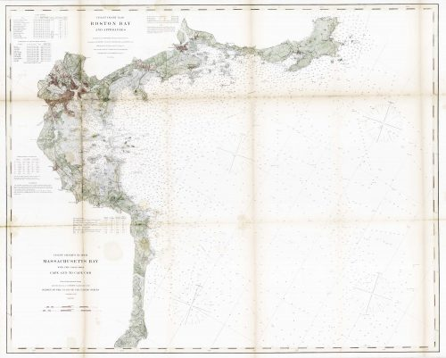 Coast Chart No.10 Boston Bay and Approaches