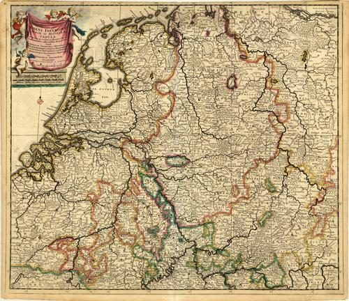 Accuratissima Rheni Inferioris Mosae et Mosellea Tabula [Germany]