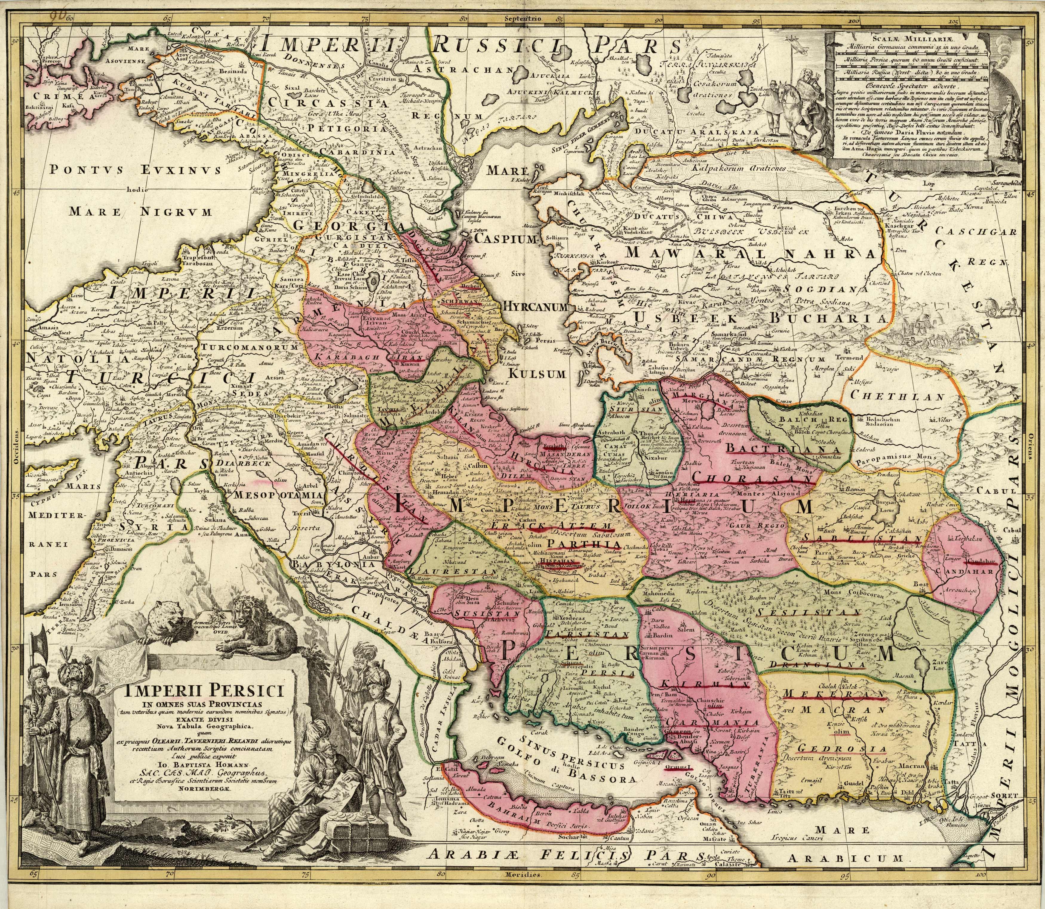 Imperii Persici in Omnes suas Provincias.. [Persia]