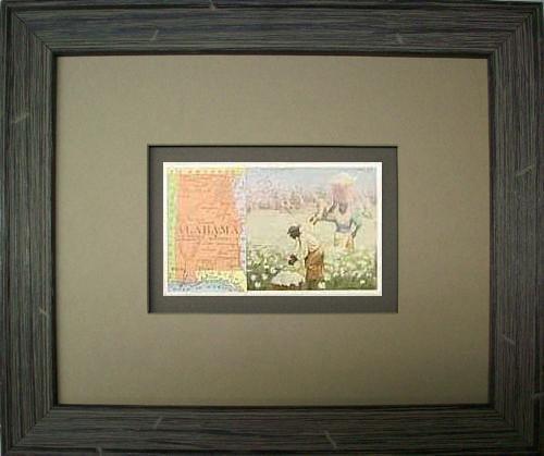 Framed Arbuckles Coffee Card of Alabama'