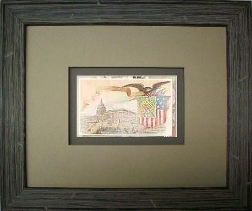 FRAMED Arbuckles Coffee Card of  Washington