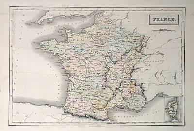 Map of France-Provinces