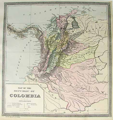 Map of the Republic of Colombia