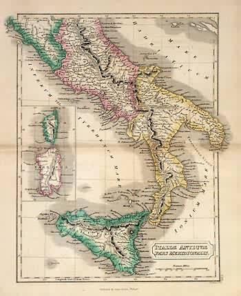 Italiae Antiqvae Pars Meridionalis