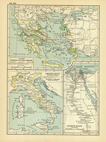 Ancient Greece and Asia Minor. Ancient Italy. Ancient Egypt.