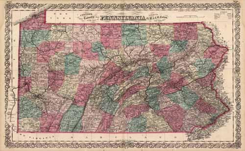 New Township map of the State of Pennsylvania
