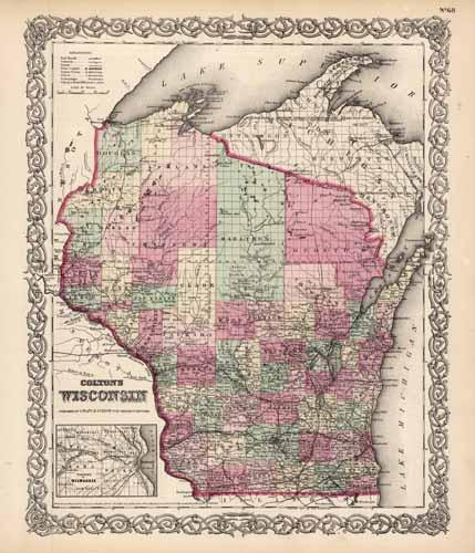 Wisconsin (with an inset map of the Vicinity of Milwaukee)