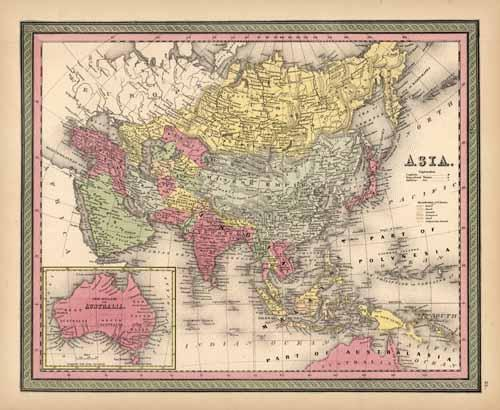 Asia (with an inset map of Australia)