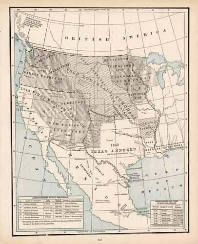 Expansion of the US  from the Mississippi River to the Pacific Coast