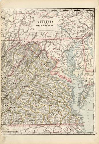 Eastern Half of Virginia and West Virginia