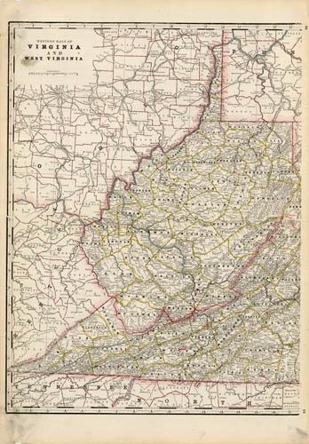 Western Half of Virginia and West Virginia