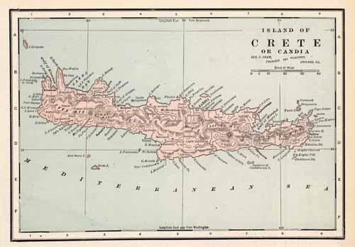 Island of Crete or Candia
