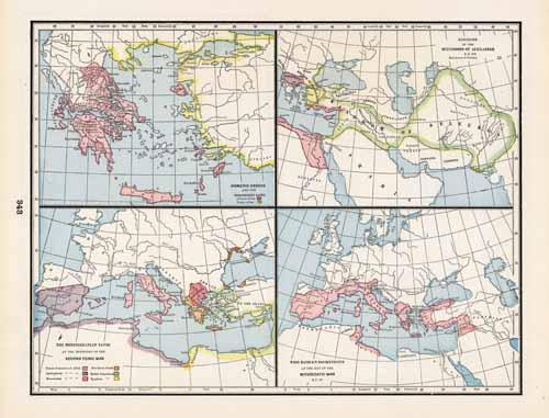 Four Maps showing Homeric Greece
