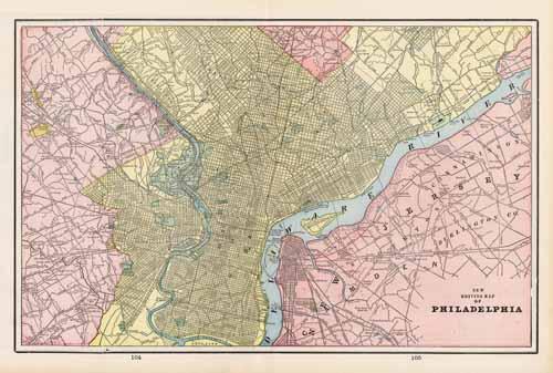 New Driving Map of Philadelphia