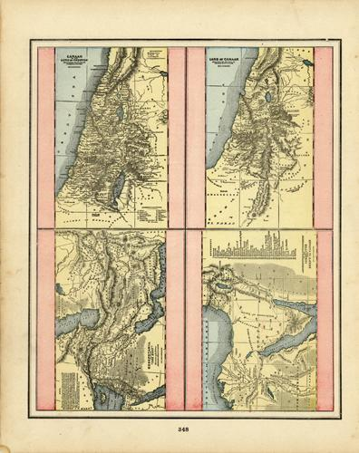 Four Maps - Canaan or the Land of Promise Illustrating the Books of Joshua & Judeas (et.al.)