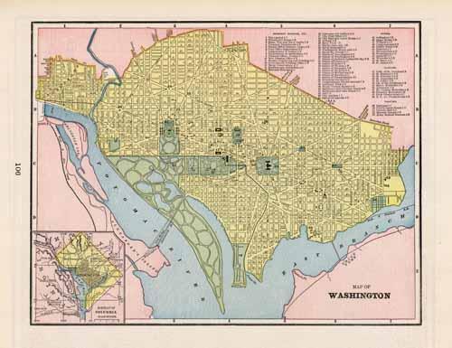 Map of Washington