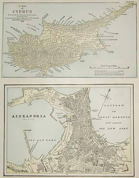 A Map of Cyprus / Alexandria ( Eqypt )