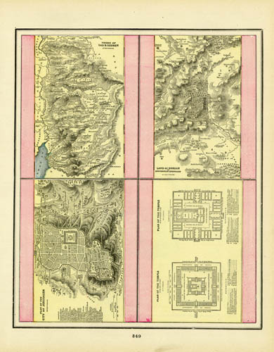 Tribes of Gad and Reuben / Land of Moriah / Plan of the City of Jerusalem / Plan of the Temple