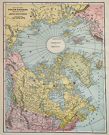Map of the Polar Regions