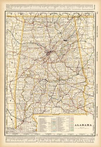 Alabama (Railroad Map)