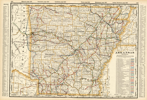 Arkansas (Railroad Map)