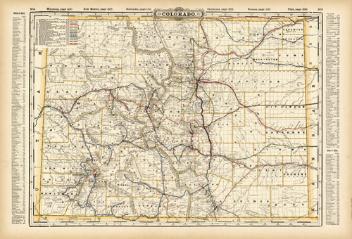 Colorado (Railroad Map)
