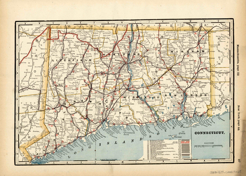 Connecticut (Railroad Map)