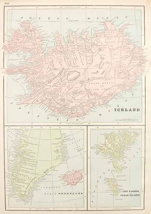 Iceland  - Greenland - The Faroer or Feroe Islands