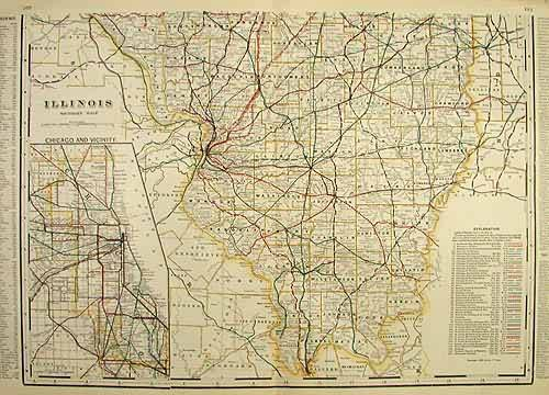 Illinois Souther Half (Railroad Map)