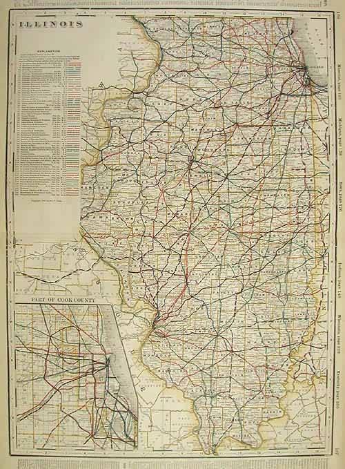 Illinois (Railroad Map)