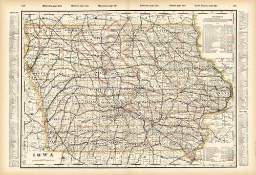 Iowa (Railroad Map)